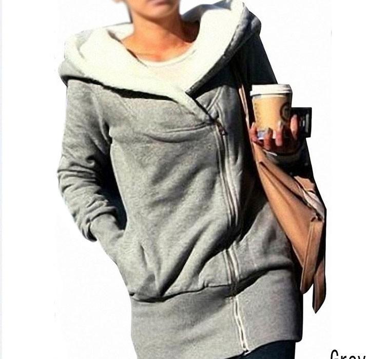 Hot Sale fashion Womens autumn winter Long Zip Tops Hoodie Coat Jacket Outerwear women coat Drop shipping GWF-684820