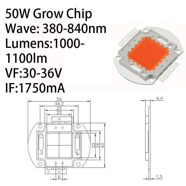 رقاقة LED 50W