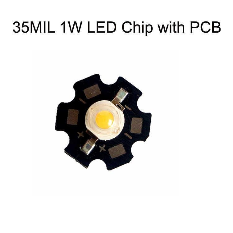 35MIL 1W LED رقاقة مع PCB