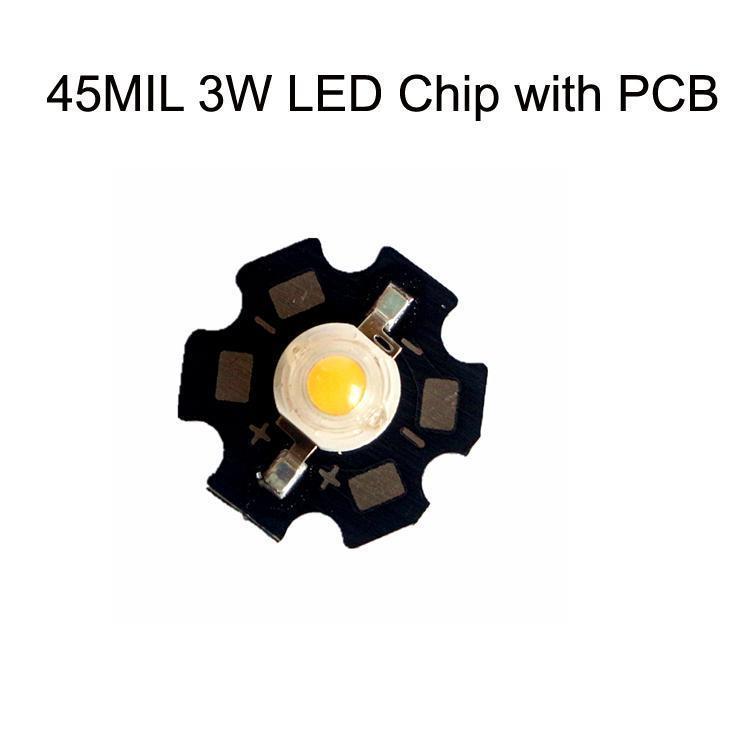45MIL 3W LED رقاقة مع PCB