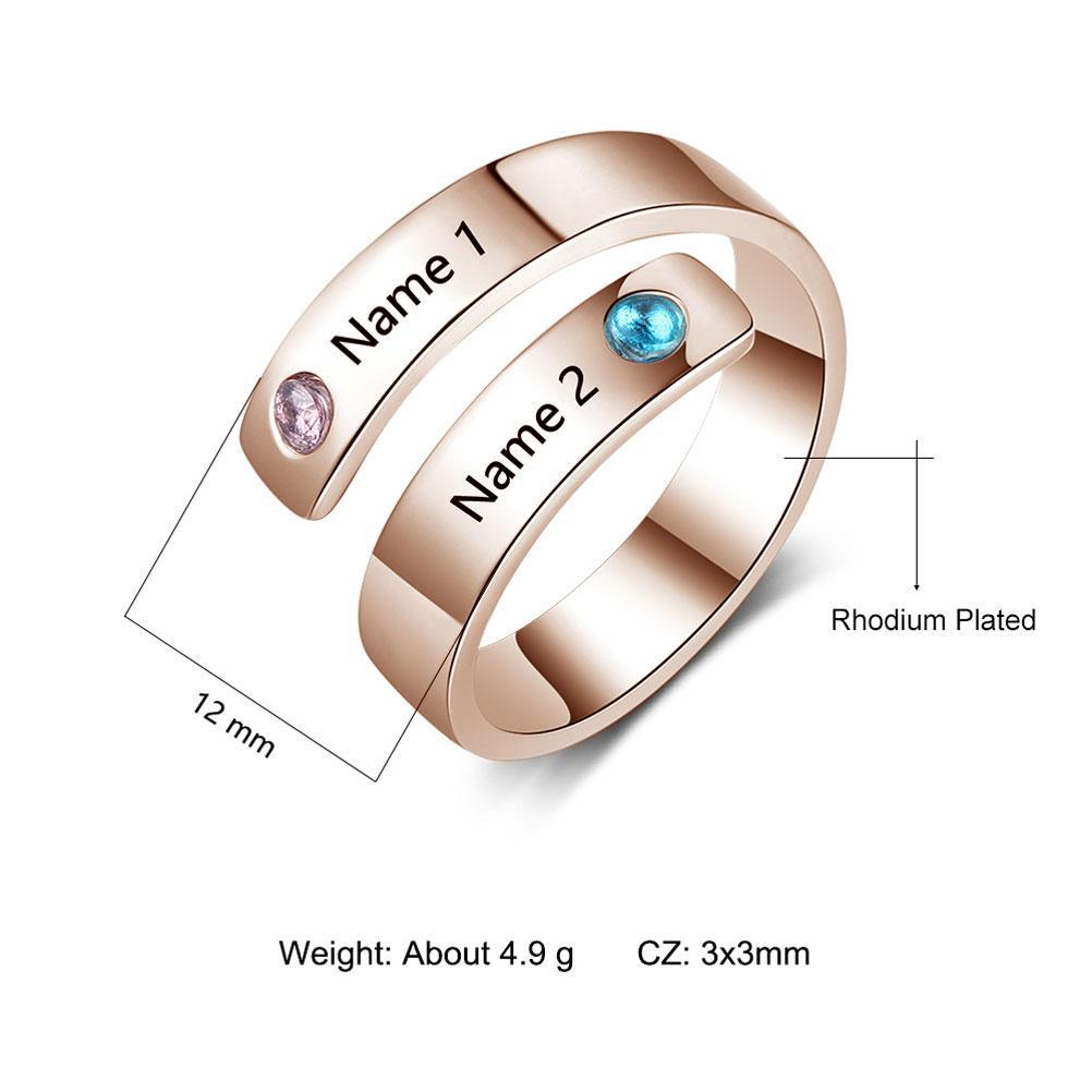 Personalized Custom Name Rings For Women Engagement Couples