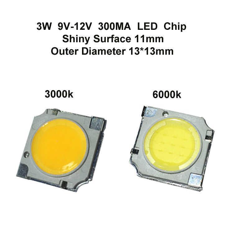 3W LED Chip Shiny Surface 11MM