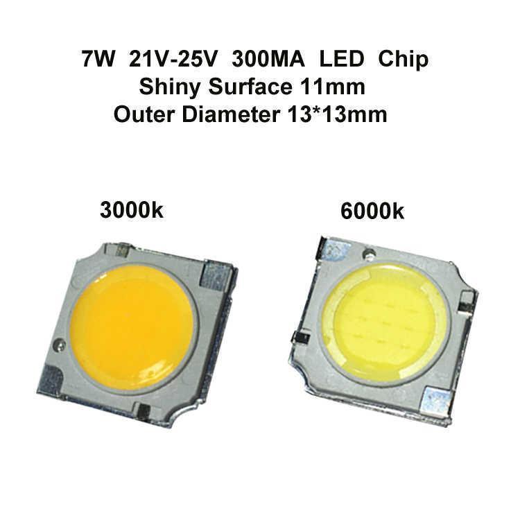 7W LED Chip Shiny Surface 11MM