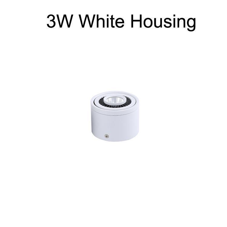 3W корпус белого цвета