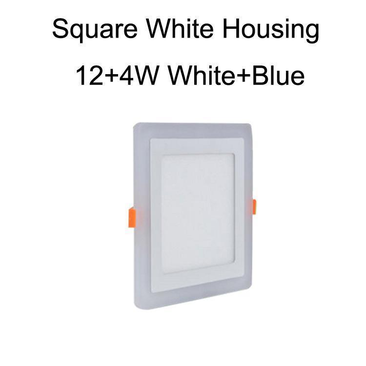 Cuadrado blanco caja 12 + 4W blanco + azul