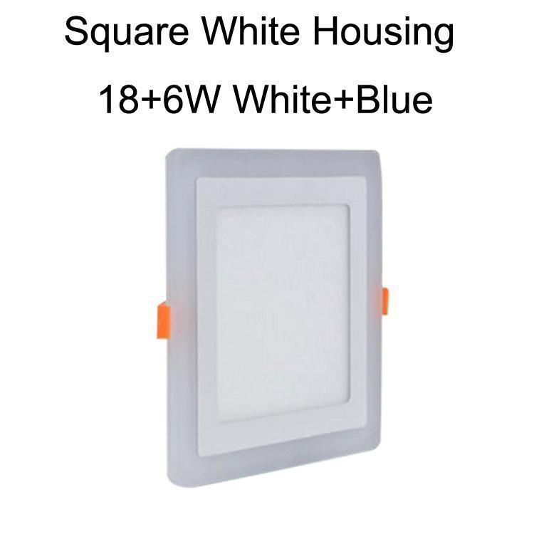 Cuadrado blanco caja 18 + 6W blanco + azul