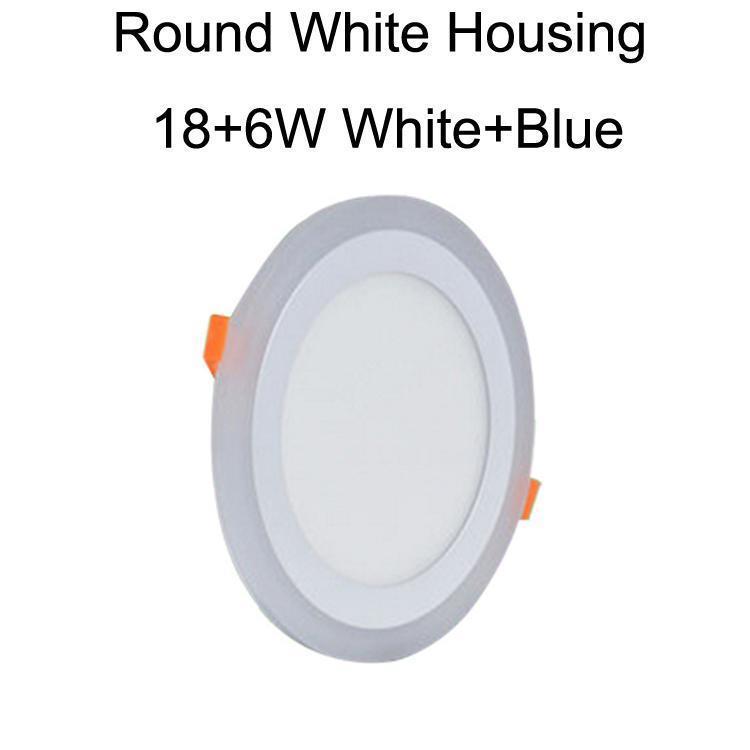 Vivienda redondo blanco 18 + 6W blanco + azul