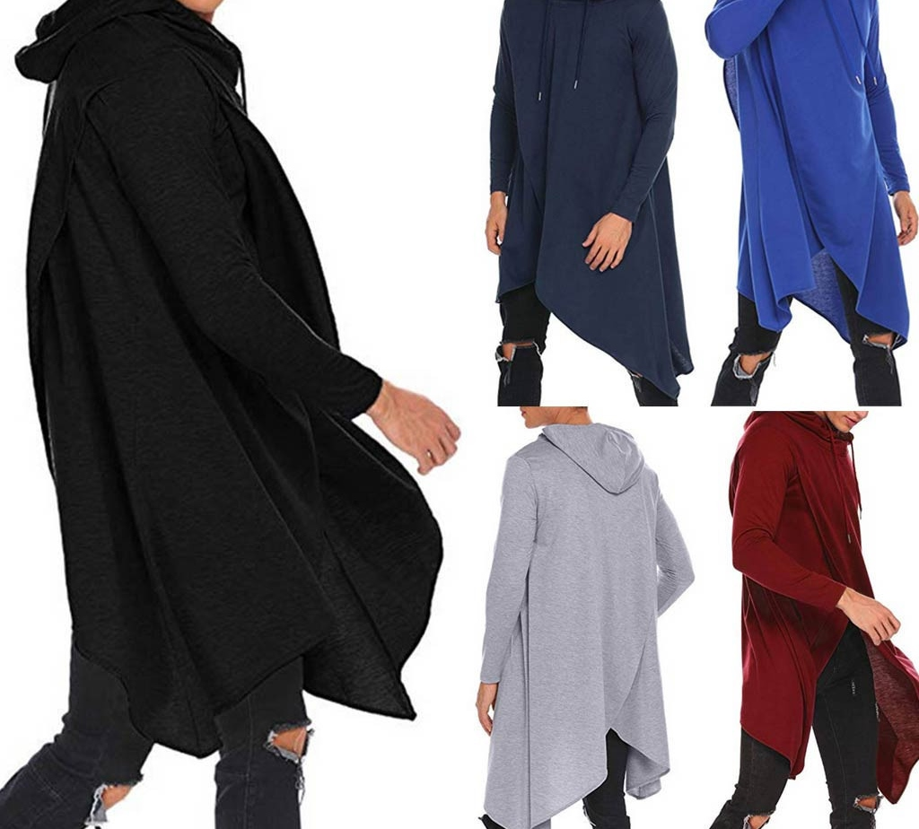 Ennglun-sweatshirts Mens Hoody,Fashion Mens Hooded Solid Trench Coat Jacket Cardigan Long Sleeve Outwear Blouse