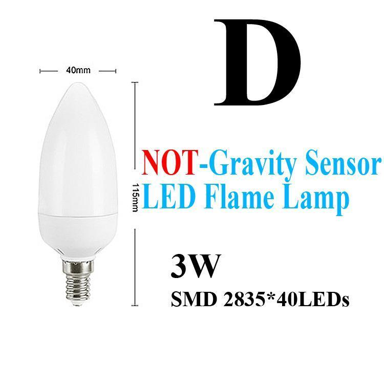 D-NOT-استشعار خطورة LED الشعلة مصباح