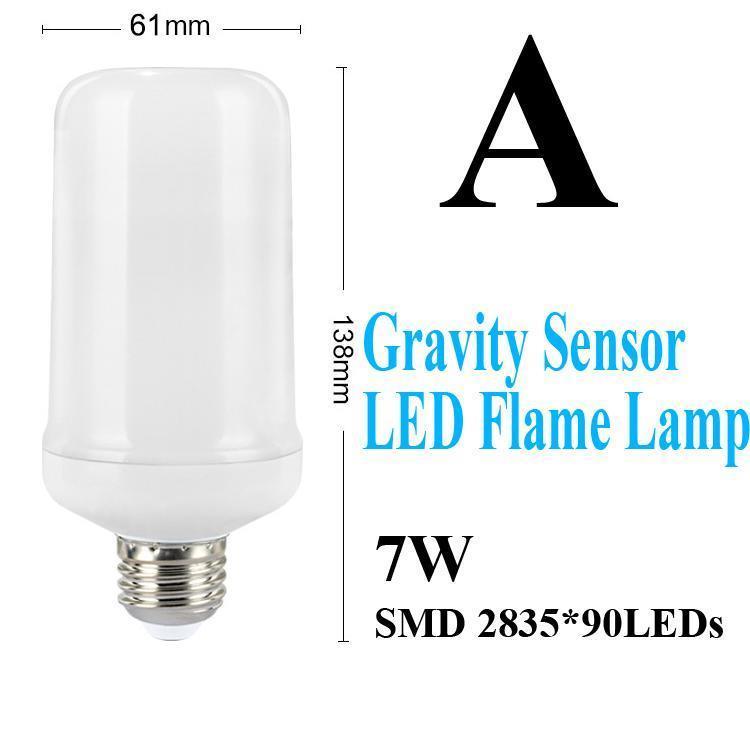 A-استشعار خطورة LED الشعلة مصباح