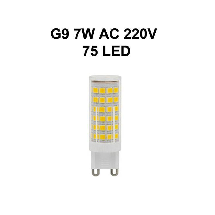G9 7W AC220V 75LED