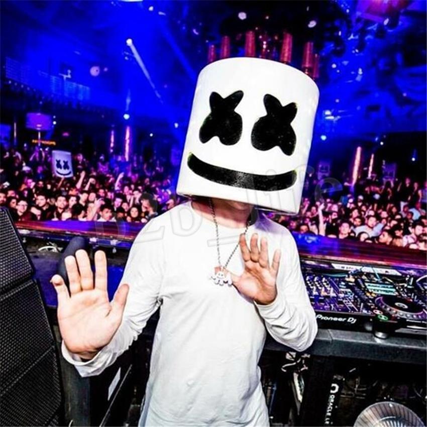 PVC Marshmello Helmet DJ Mask Concert Props Future Bass Music Bars Mask UK SOLD