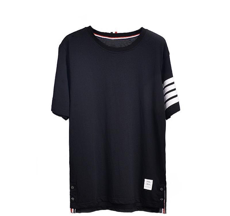2018 Summer TB Men Skateboards O-Neck Short-Sleeved Hip Hop Striped T-Shirt women Casual Undershirt Top Tees