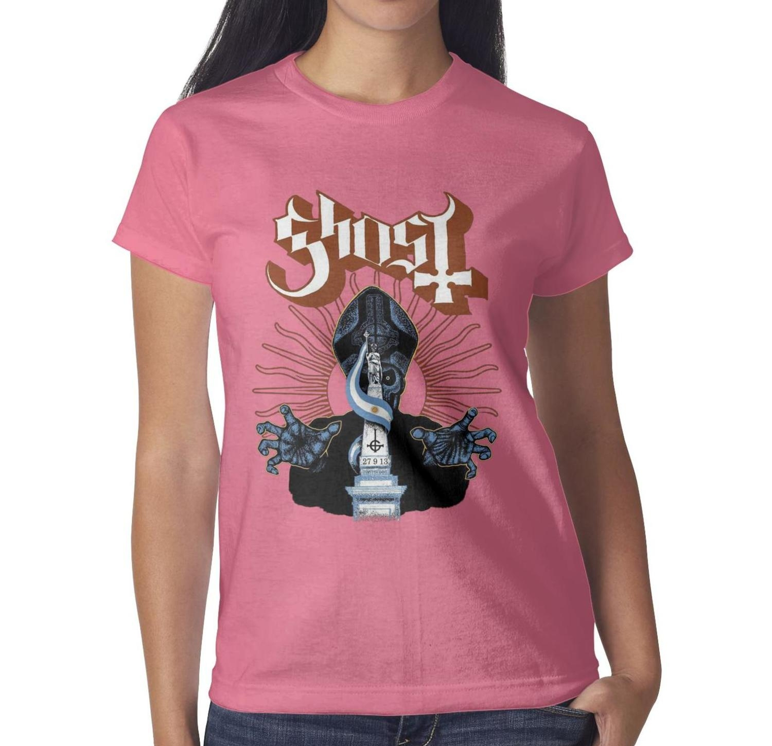 Ladies New  Girl Art Graphic Cotton Body Fit Tops T Shirts 9