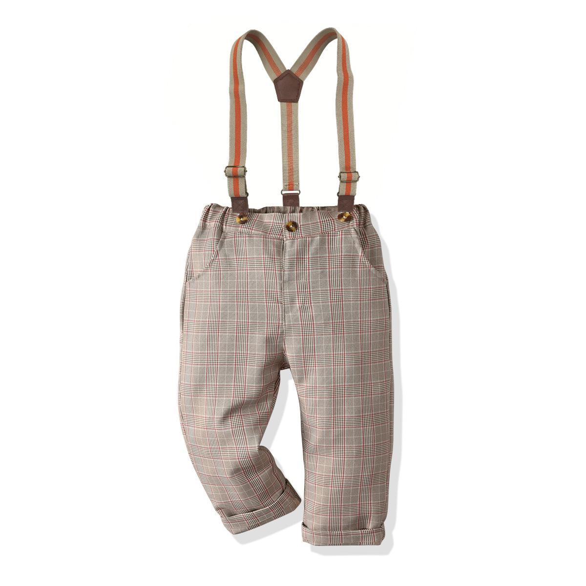 Ekose Suspender Pantolon