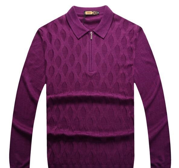 Wholesale ZILLI sweater men`s clothing for autumn/winter 2017 new business casual embroidery British turtleneck sweater