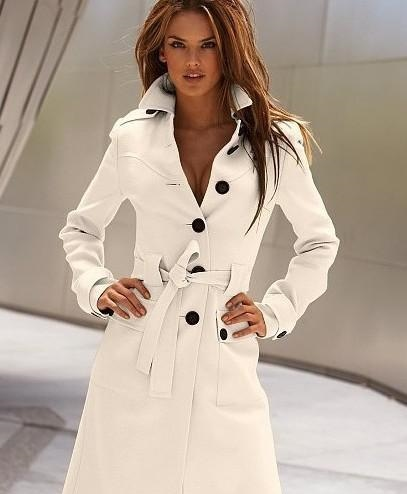 HOT! Fashion Korea Women`s Before and after the open cut Winter Women`s Trench Coats women`s Outerwear black