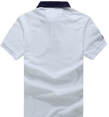 2017 Fashion American Style Men Casual Solid Polo Shirts Classic brand clothing short sleeve Big Horse polos shirts Business White navy Blue