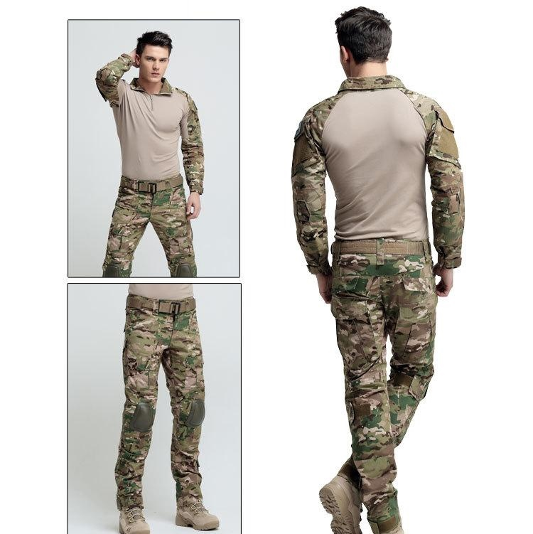 Military Camo Frogman Tactical Suit Marines Camouflage Tactical Frog Clothing Uniforms Men Women With Protective gear CB9F1