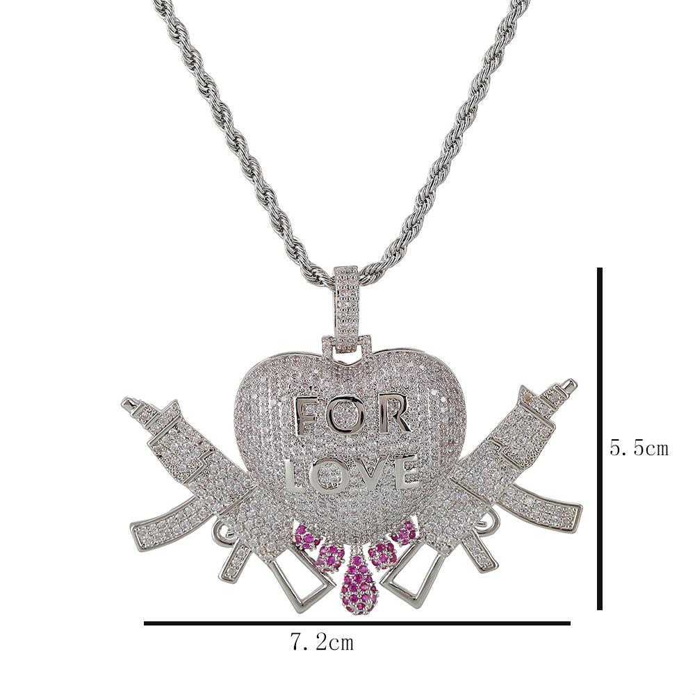 lovty Custom CZ Tennis Letters Pendant Name Necklace Personalized Name Zircon Iced Out Necklaces Hip Hop Pendants for Men Women