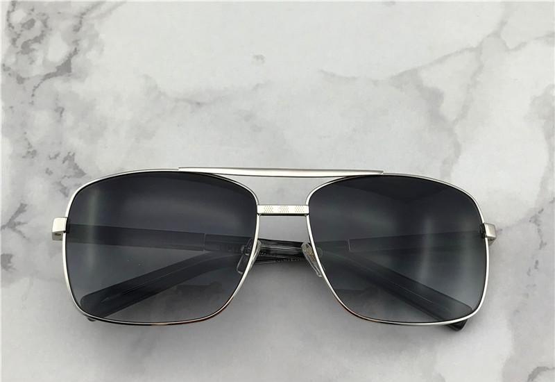 vintage men outdoor sunglasses attitude clssic metal silver square frame uv 400 protection eyewear with orange box