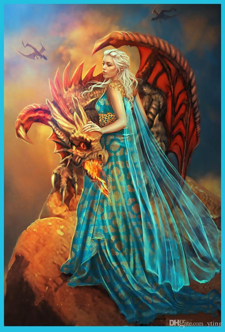 Game of Thrones Costume Daenerys Qarth Blue Dress with Belt Khaleesi Gown Daenerys Targaryen Cosplay 2017 Prom Dresses with Watteau Train