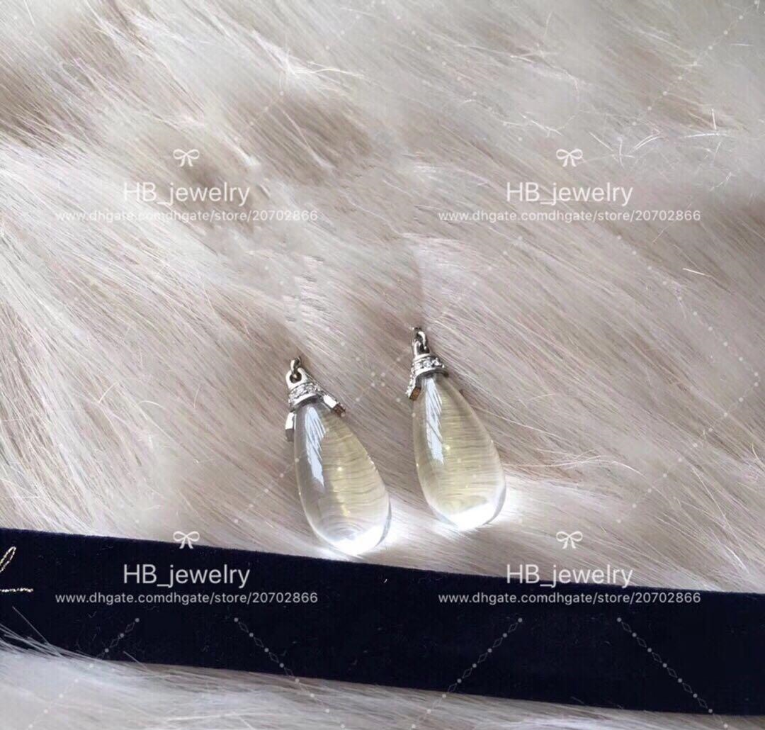 Popular fashion brand Water dripping fringed designer earrings for lady Design Women Party Wedding Luxury Jewelry With for Bride with BOX.