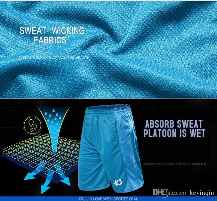 NEW 2016 Brand Athletic KD Gym Shorts Sport Running Knee Length Elastic Loose Pocket Basketball Shorts Plus Size XL-4XL HOT