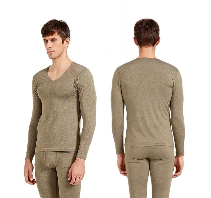 Autumn Winter Warm Thicken Long Johns Tops Couple Cotton Thermal Underwear Set Bottom Navy Blue Dark Gray, Light Gray