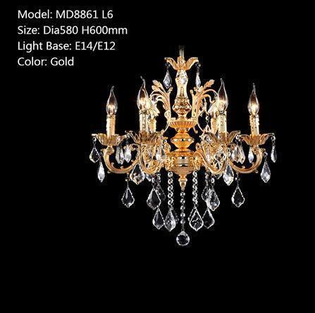 D580 H600mm L6 Gold