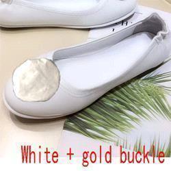 White + gold button