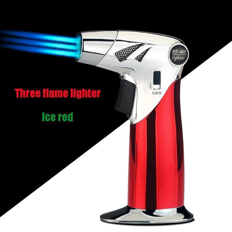 Drei Flamme leichter / Ice rot