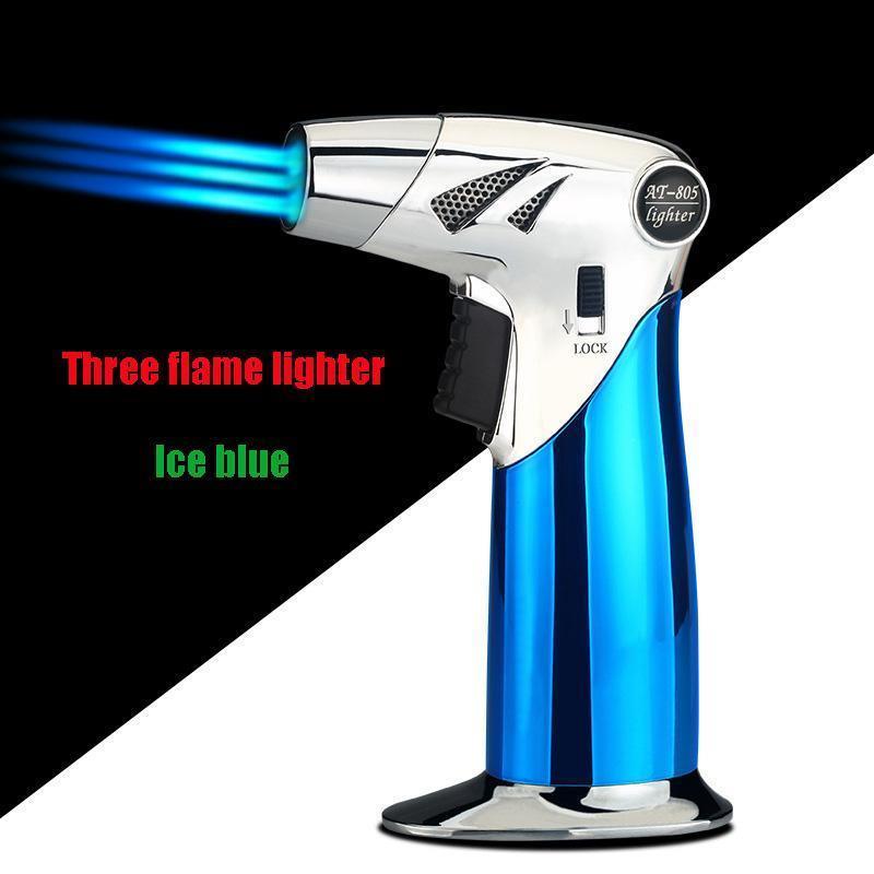 Drei Flamme leichter / Eisblau