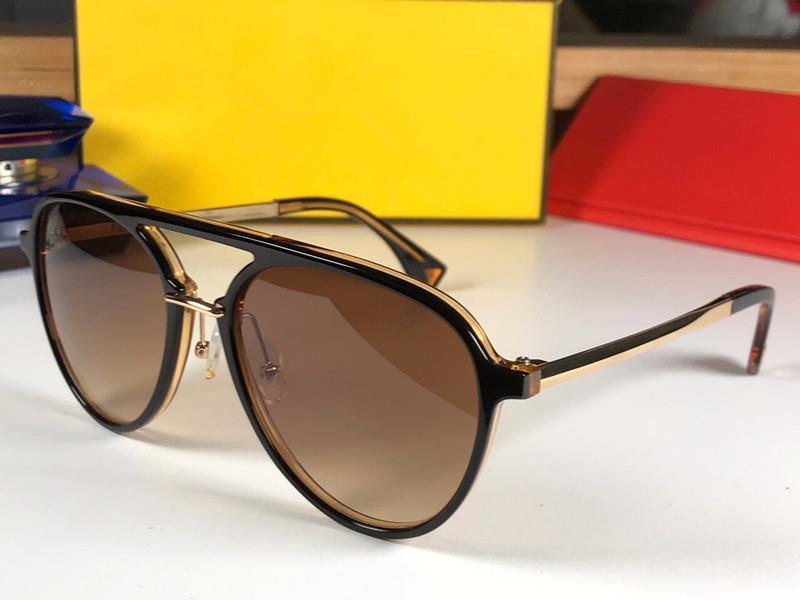 lente marrón oro negro