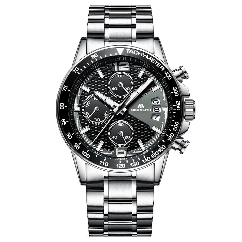 Silber Stahl schwarz
