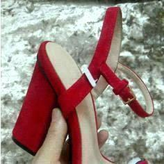 red suede with letter front
