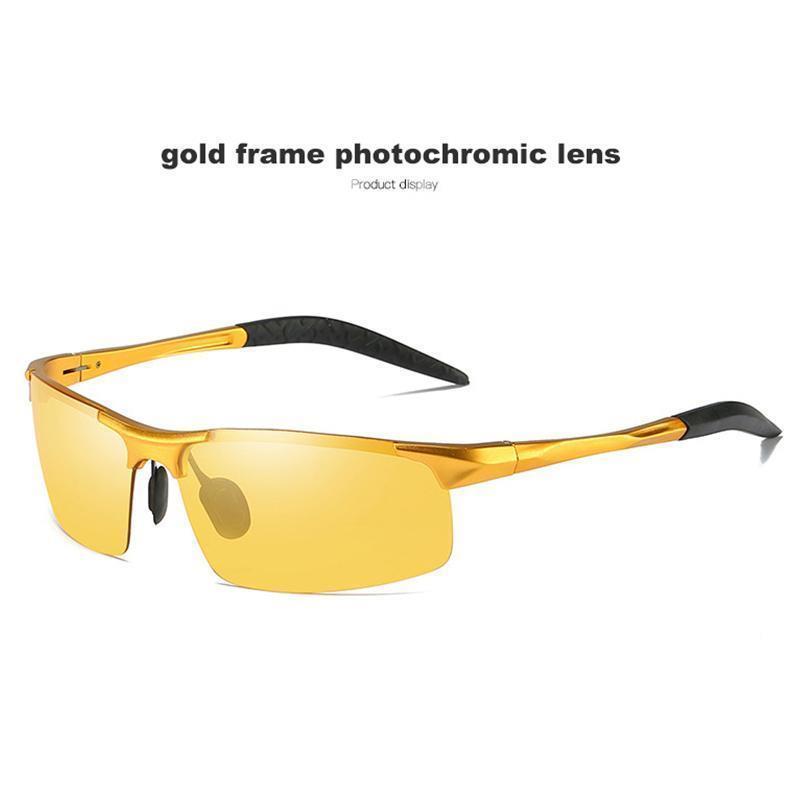 Gold frame yellow lens