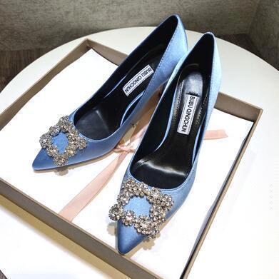 Blue (heel height: 8 cm)