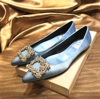 Blue (flat heel)