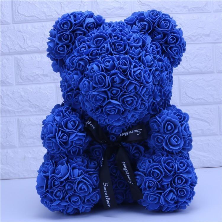 Ours bleu 25cm