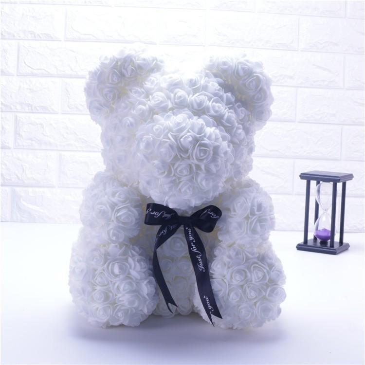 Ours blanc de 25cm