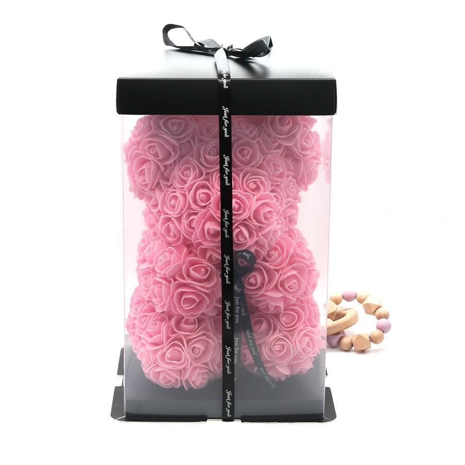 25cm rose avec boite