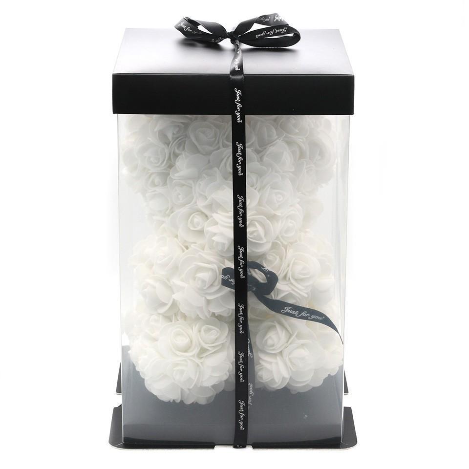 25cm blanc avec boite