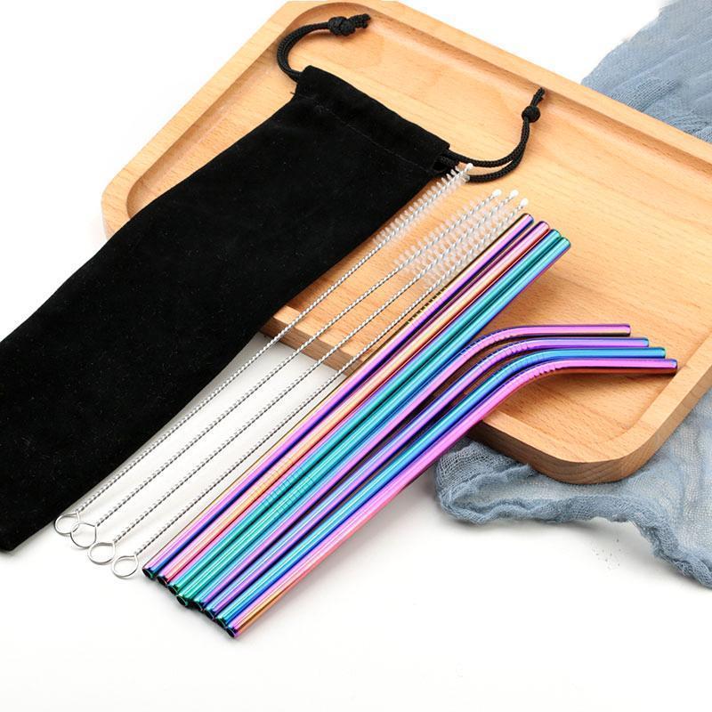 6*215mm bend straw-Mix