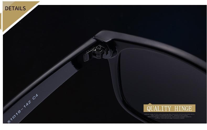 EL MalusPolarized Square Frame Sunglasses Men Male Night Vision Gray Silver Blue Lens Mirror Retro Brand Designer Sun Glasses SG081 Serengeti