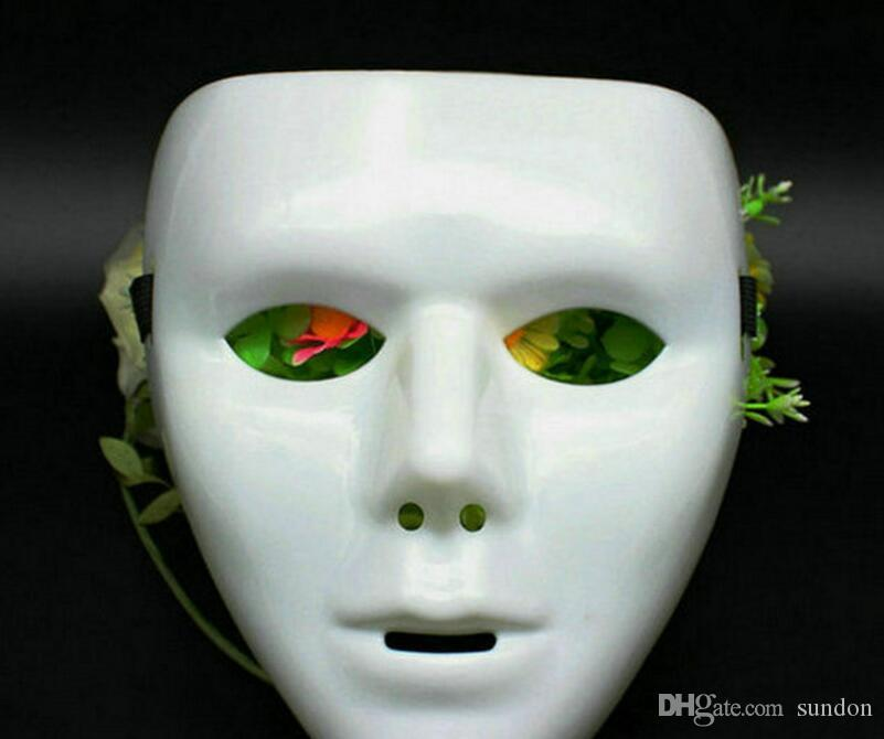 Bello Luna White Full Face Mask Hip Hop Dance Fashion Cosplay Mask ... | 670x801