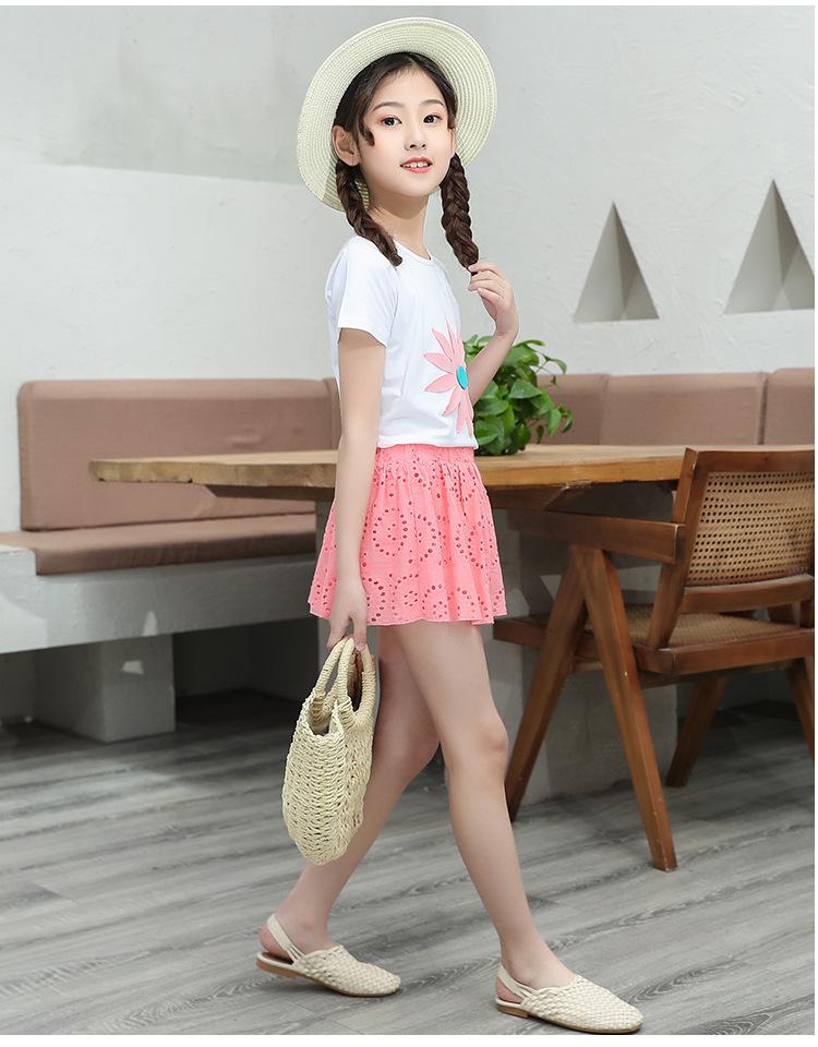 9-hierba de la hoja de la falda de rosa