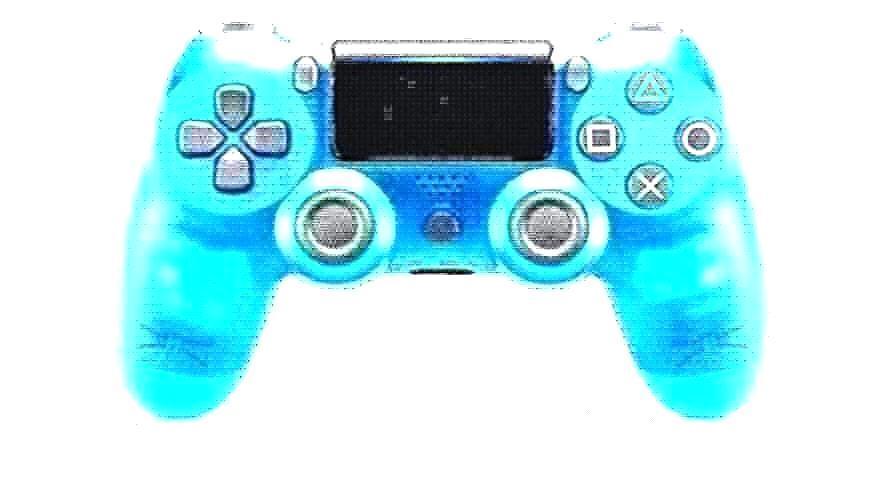 Cristal azul con el logotipo