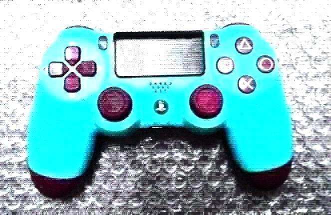 Baya azul con logo.