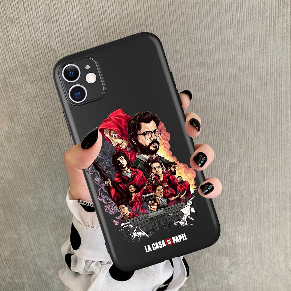 اسبانيا TV المال سرقة البيت غطاء ورقة لا كاسا دي PAPEL الهاتف للحصول على حالة IphonePhone XR 10 برو 11 كحد أقصى 8 7 6 6S زائد X XS ماكس 5 5S